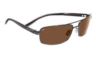 Serengeti San Remo Single Vision Prescription Sunglasses, Shiny Gunmetal/Grey Stripe Frame-7608SV