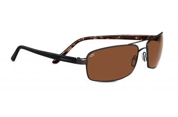 Serengeti San Remo Sunglasses - Satin Dark Brown/Black Tortoise Frame, Drivers Polarized Lenses 7609