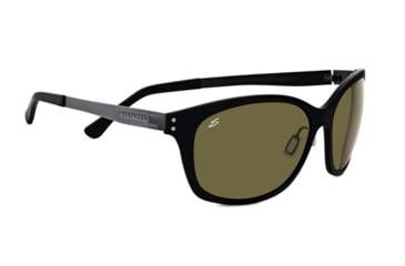 Serengeti Sara Sunglasses - Satin Black Frame and Polar PhD 555nm Lens 7831