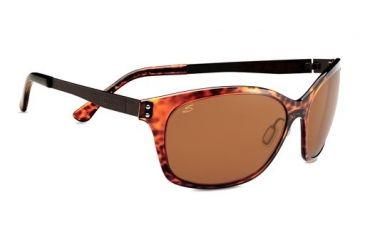 Serengeti Sara Sunglasses - Shiny Dark Tortoise Frame and Polar PhD Drivers Lens 7833