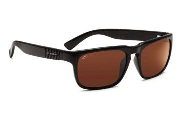 Serengeti Cortino, Shiny Black Frame, Drivers Polarized Lens, 7458