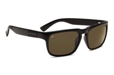 Serengeti Cortino, Shiny Black Frame, 555nm Polarized Lens, 7498