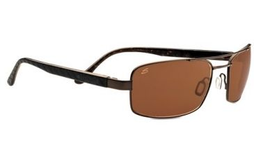 Serengeti Tosca Sunglasses - Satin Dark Brown/Black Brown Laser Tortoise Frame and Polar PhD Drivers Lens 7798