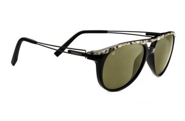 5d93713b1d Serengeti Udine Sunglasses - Shiny Marble Cut Black Frame and Polarized  555nm Lens 7760