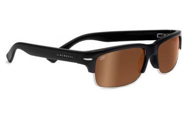 Serengeti Vasio Single Vision Rx Sunglasses Shiny Black Frame 7722