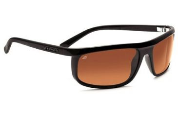 Serengeti Velino Single Vision Rx Sunglasses - Shiny Black Frame 7510