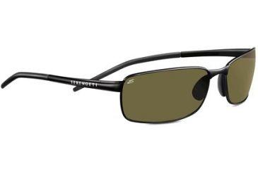 Serengeti Vento Single Vision Rx Sunglasses Satin Black Frame