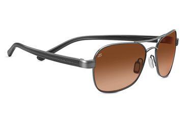 Serengeti Volterra Aviator Sunglasses, Pilot Shiny Hematite Frame, Drivers Gradient Lens 7990