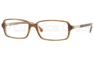 Sferoflex SF 1135 Eyeglasses Styles Striped Brown On Mastic Frame w/Non-Rx 53 mm Diameter Lenses, C200-5316
