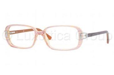Sferoflex SF 1547 Eyeglasses, Top Striped Pink On Yellow Tr. Frame w/Non Rx 52 mm Diameter Lenses, C406 5216
