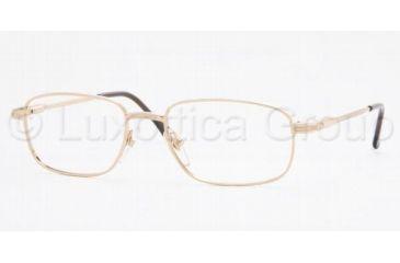 Sferoflex SF 2086 Eyeglasses Styles Gold Frame w/Non-Rx 52 mm Diameter Lenses, 108-5217, Sferoflex SF 2086 Eyeglasses Styles Gold Frame w/Non-Rx 52 mm Diameter Lenses