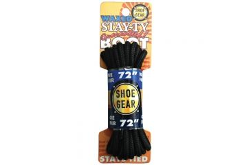 Shoe Gear Waxed Boot Laces 72'' Blk/blk 311-32