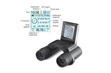 Sightron SI Series 7x18mm GPS Binocular SIGPS718 - Display