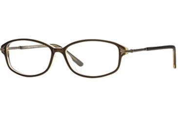 Signature Collections Millay SESC MILL00 Progressive Prescription Eyeglasses - Brown/honey SESC MILL005435 BN