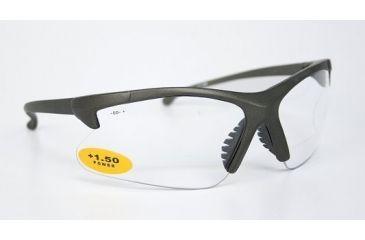 Silencio Shooting Glasses w/Gunmetal Frame & Clear Magnifying Lens Inserts 3014949