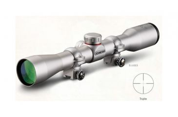 2-Simmons .22 Mag 4x32 Rifle Scope - Matte, Truplex Rings Clam Pack
