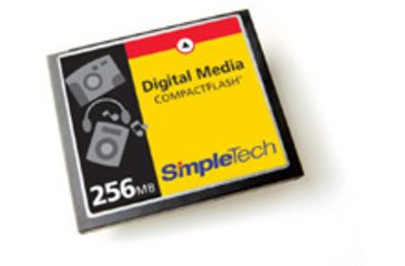 SimpleTech Compact Flash 256MB Type I Card