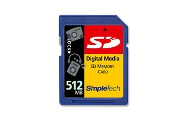 SimpleTech Secure Digital (SD) 512MB Memory Card