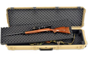 SKB Cases Injection Molded 50.5inx14.5inx6in Bow Rifle Case w/Rigid Foam Dividers, Tan 3i-5014-DB-T