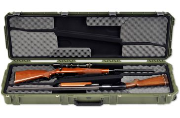 SKB Cases iSeries 5014 Double Rifle Case, Olive Drab, 53 1/8 x 17 1/4 x 7 3i-5014-DR-M
