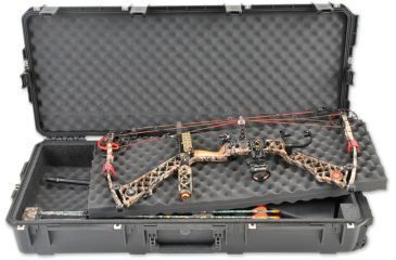 SKB Cases iSeries Double Bow/Rifle Case w/Foam and Wheels, Black 3I-4217-DB