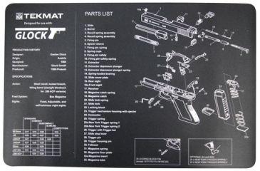 Slip 2000 Blueprint Gun Cleaning Mat 11x17 Inches For Glock