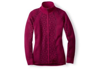 60926933dfbc77 Smartwool Dacono Full Zip Sweater - Womens, Berry Heather, Extra Small,  SW000103314XS
