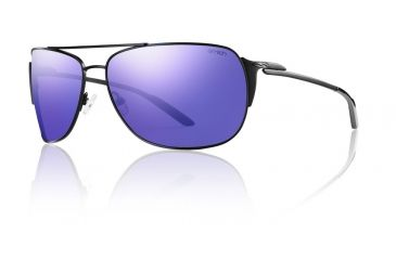 Smith Optics Foley Sunglasses - Matte Black Frame, Deep Purple Mirror Carbonic TLT FOPCPRMMB