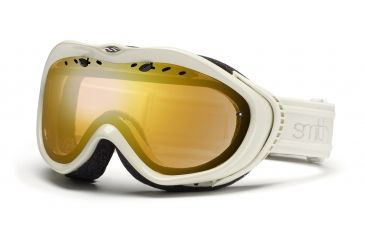 Smith Anthem Goggles, Ivory Bristol, Gold Sensor Mirror AN6GMIB11