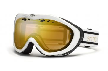 Smith Anthem Goggles, White/Black Bristol, Gold Sensor Mirror AN6GMKB11