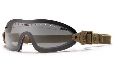 Smith Optics Elite Boogie Sport Asian Fit Goggle, Tan 499 Strap, Gray BSPT499GY13A