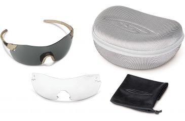 Smith Optics Elite Pivlock V2 Tactical Sunglasses, Tan 499, Gray, Clear PVTPCGYT499