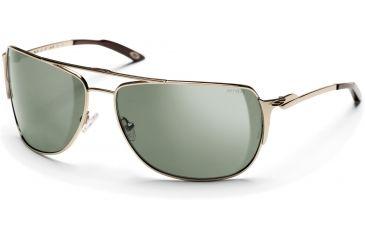 Smith Optics Foley Sunglasses - Gold Frames, Gray-Green Lenses
