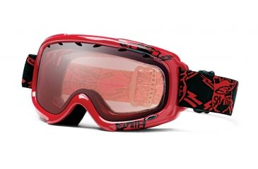 Smith Optics Gambler Graphic Snowboard Goggles - Red Shields Frame, Ignitor Mirror Lens