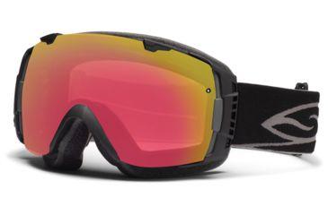 Smith Optics I/O Snow Goggles - Black Frame w/ Blackout and Red Sensor Lens IO7BKBK13