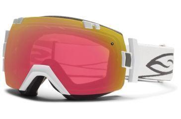 Smith Optics I/OX Snow Goggles - White Frame w/ Blackout and Red Sensor Lens IL7BKWT13