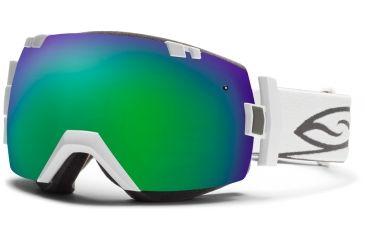 Smith Optics I/OX Snow Goggles - White Frame w/ Photochromic Red Sensor and Green Sol X Lens IL7PRZWT13