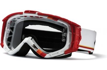 Smith Optics Intake Goggles Sweat-X - White/Red Max w/ Clear AFC Lens IX1CFDM11