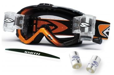 Smith Optics Intake Sweat-X Racer Pack Goggles - Black-Orange frame, Clear AFC lens