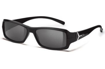 Smith Optics Interchange Crossroad Sunglasses - Black frame, Polarized Gray lens