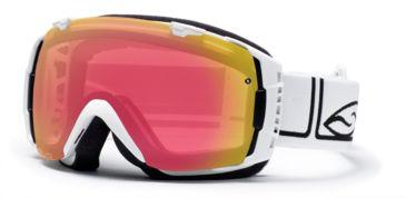 Smith I/O Goggles, White Foundation, Red Sensor Mirror And Platinum Mirror Lenses IO7RZFW10