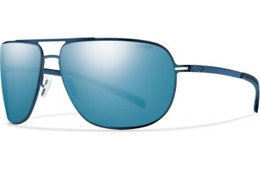 Smith Optics Lineup (New) Sunglasses - Matte Blue Frame, Polarized Blue Mirror Lenses LPPPUGMBL