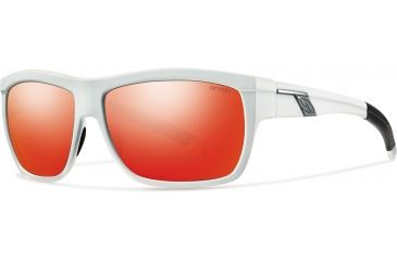 Smith Optics Mastermind Sunglasses, Matte White/Red Sol-X Carbonic TLT Lenses MMPCDMMW