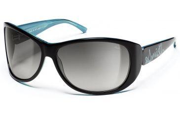 Smith Optics Novella Sunglasses - Black-Turquoise Frames, Gray Gradient Lenses