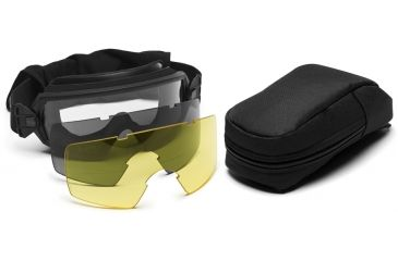 Smith Elite Outside The Wire Goggles w/ Gray & Yellow Spare Lens-Deluxe, Black Frame OTW01BK12-3R