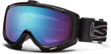 Smith Optics Phenom Turbo Fan Goggles - Black Frame, Blue Sensor Mirror Lenses PH5ZBK12