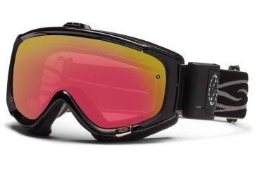 Smith Optics Phenom Turbo Fan Goggles - Black Frame, Red Sensor Mirror Lenses PH5RZBK12