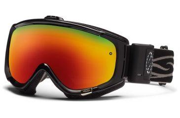 Smith Optics Phenom Turbo Fan Goggles - Black Frame, Red Sol X Mirror Lenses PH5DXBK12