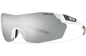 Smith Optics Pivlock V2 Max Sunglasses - White Frame, Platinum,Ignitor,Clear Lenses VWMPCGYMWT