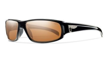 Smith Precept Sunglasses - Black Frame, Polarchromic Copper Mirror Techlite Glass PTGPPCPMBK